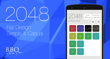 Screenshot of 2048 flat design sound&casual