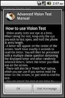 Screenshot of Advanced Vision Test