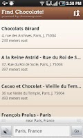 Screenshot of Find Chocolate!