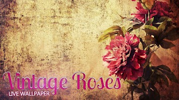 Screenshot of Vintage Roses Live Wallpaper