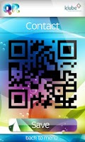 Screenshot of QR code reader and generator