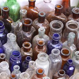 Bottles by Michael Watts - Artistic Objects Glass