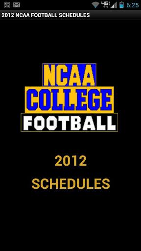 College Football Schedule 2012