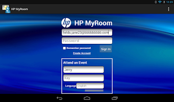 Screenshot of HP MyRoom