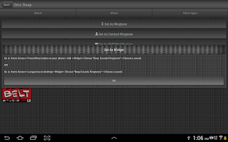 Screenshot of Beep Sounds Ringtones