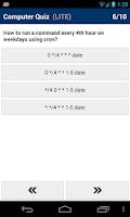 Screenshot of Computer Quiz LITE