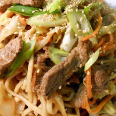 Beef, Miso and Sesame Noodles