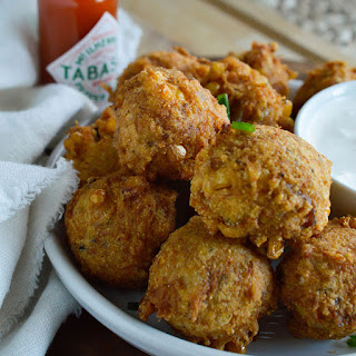 Spicy Cajun Crab Corn Fritters