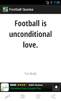 Screenshot of Football Quotes