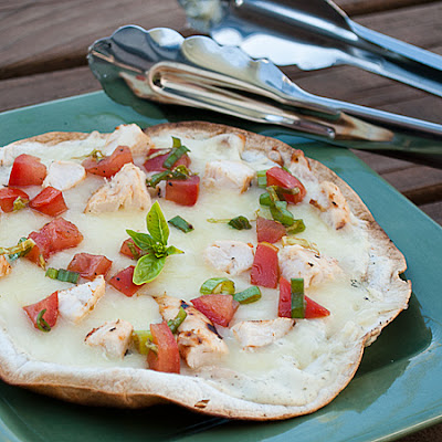 Grilled Chicken Bruschetta Thin Crust Pizza