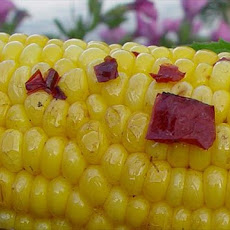 White Corn on the Cob Seasoned With Chipotle Peppers and Butter!
