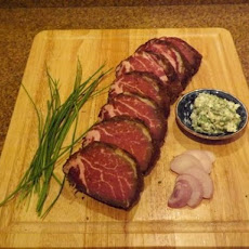 Chanterelle/Tarragon Herb Crusted Dry aged Beef Tenderloin : Filet Mignon steaks