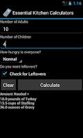 Screenshot of Essential Kitchen Calculators