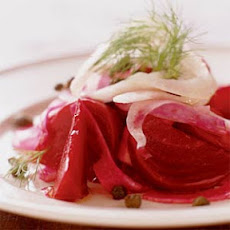 Beet and Fennel Salad with Fried Capers