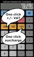 Screenshot of calCom - Commercial Calculator