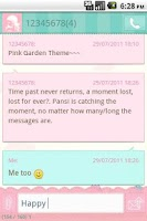 Screenshot of Easy SMS Pink Garden Theme