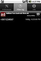 Screenshot of DND Call Blocker
