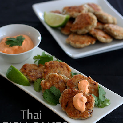 Thai Fish Cakes with Spicy Mayo