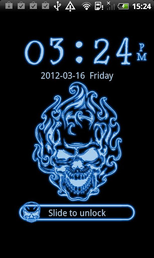 GO Locker Neon Blue Skull