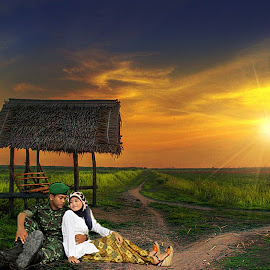 prewed in sawah by Pakcik Muthahir - Novices Only Portraits & People