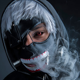 Ghoul No3 by Shaheed Joe-Dewarder - People Portraits of Men ( scary, cosplay, smoke photography, people, halloween )