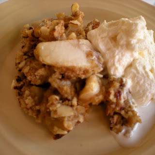 Nutty Professor's Apple Crumble with Chantilly Cream