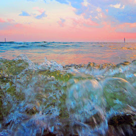 sun kissed waves by Carol Cooper - Nature Up Close Water ( water, waves,  )