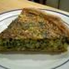 Homemade Ham & Spinach Quiche