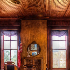 Ft. Hayes by Izzy Kapetanovic - Buildings & Architecture Other Interior ( mirror, fort hayes, sd, windows, desk, architecture, room )