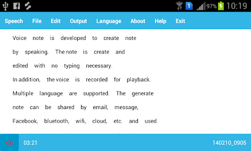 Dictation Note Trial - screenshot