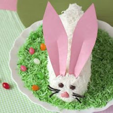 Ma's easy Easter bunny cake