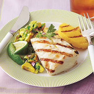 Grilled Halibut with Avocado Salsa