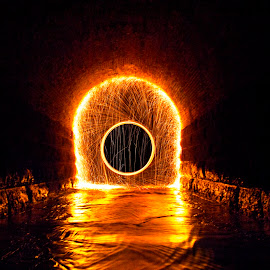 Portal by Kyle Doratt - Abstract Light Painting ( abstract, light painting, steel wool, night )