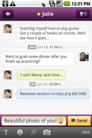 yahoo-messenger for android screenshot