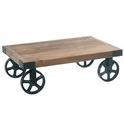 Acheter Table Basse Chariot Roues Fer Cross Casita A Longfosse Chez
