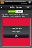 Screenshot of Reflex Tester