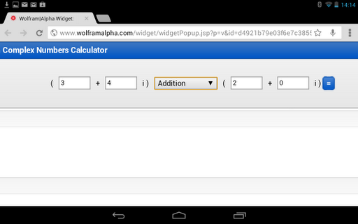 Complex Numbers Calculator