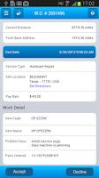 Screenshot of Barrister Technician App