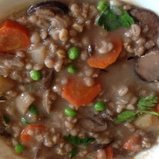 Whole Oats, Barley and Mushroom Stew