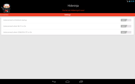 Screenshot #4 of VPN Hideninja / Android