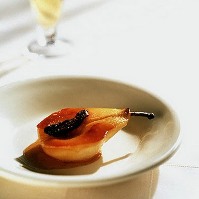 Baked Vanilla Pears with Figs
