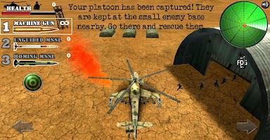 Screenshot of Cobra Striker: Helicopter Game