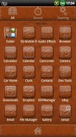 Screenshot of Leather GO Launcher EX Theme