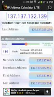 Screenshot of IPv4 Address Calculator Lite