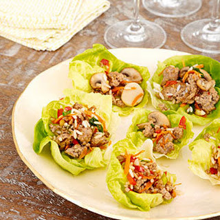Pork and Mushroom Lettuce Wraps