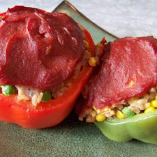 Spicy Stuffed Bell Peppers (Vegetarian/Vegan/Gluten-Free)