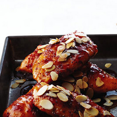 Apricot Chicken with Almonds