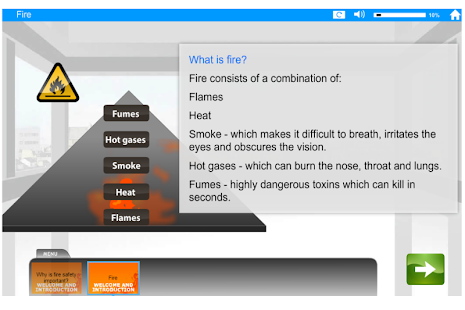Fire Safety e-Learning - screenshot