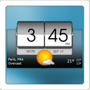 3D Flip Clock & World Weather mobile app icon