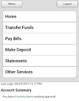 Screenshot of Jefferson Bank - Mobile